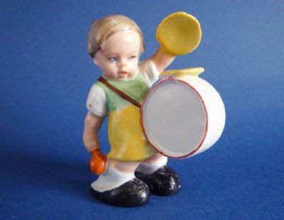 Cute Art Deco Mabel Lucie Attwell Style Nursery Figure of a Drummer Boy c1930